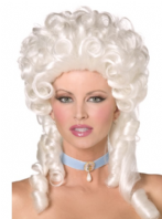 Baroque Wig, White  (42122)